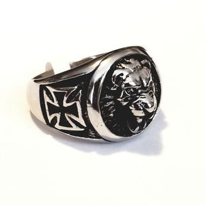 New stainless steel lion ring size 13